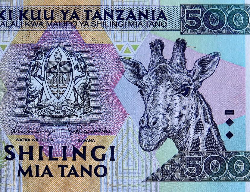 Tanzanian money 1997